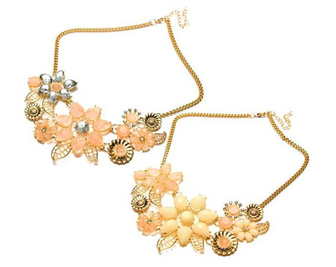 Vintage Crystal Flowers Choker Bib Statement Pendant Necklace 2 COLOUR AVAILABLE FREE SHIPPING 7.99 usd Click on picture to order.