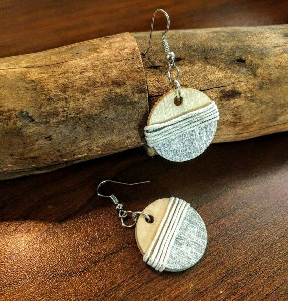 Check out this item in my Etsy shop https://www.etsy.com/listing/504944709/wooden-wrapped-earrings-silver