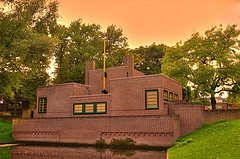 Lapersveld Pomphuis   architect Willem Marinus Dudok
