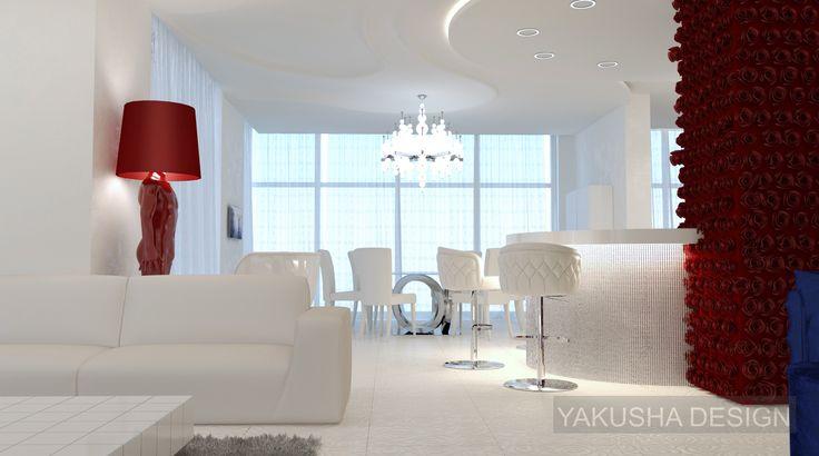 Fashion apartment | Yakusha Design white dining
