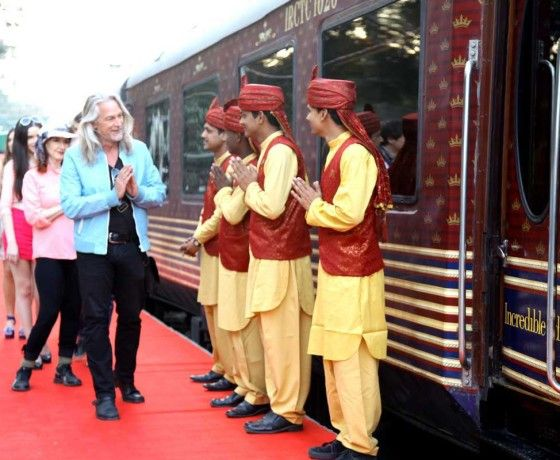 Maharajas Express Train Welcome