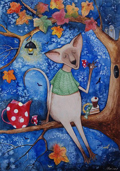 Сообщество иллюстраторов / Иллюстрации / Mari Kuznetsova / Осенний #чай