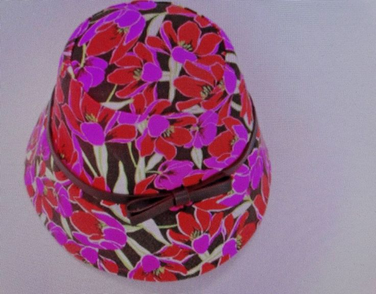 Kate Spade New York Rio Tropical Floral Bucket Hat Pink Leather Bow Cotton NWT #KateSpade #Bucket