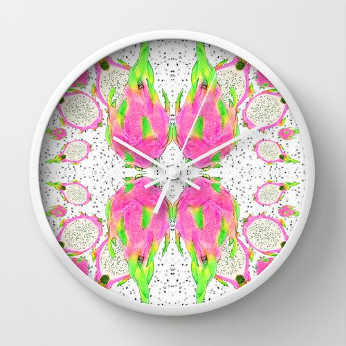 Dragon Fruit wall clock! https://society6.com/product/dragon-fruit-s8f_wall-clock#33=283&34=285