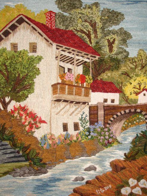 maison au bord de l'eau Cuadro de mi madre