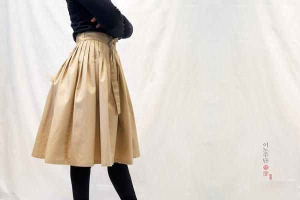 Basic Waist Skirt, Toffee