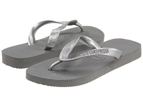 Havaianas Top Metallic Flip Flops - need these to get to the shower as well as if a beach or pool is in the travel plans...