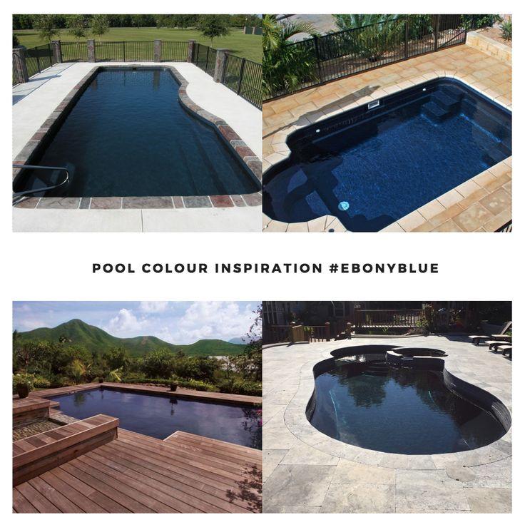 Leisure Pools Colour Inspiration - Ebony Blue  #swimmingpools #leisurepools #lifeofleisure #best #summer #colours #inspiration