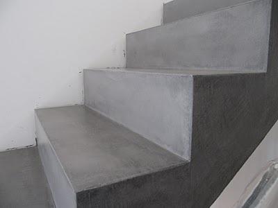 beton unique - beton cire: Beton Cire, Betontreppe nach Beschichtung
