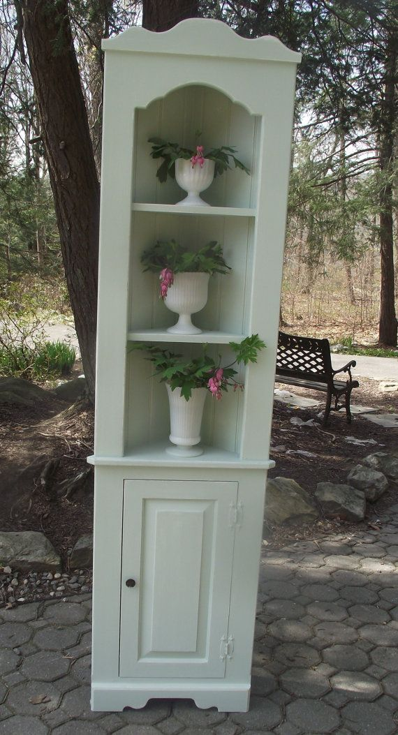 Shabby chic corner cabinet by SerendipityChicDecor on Etsy, $175.00