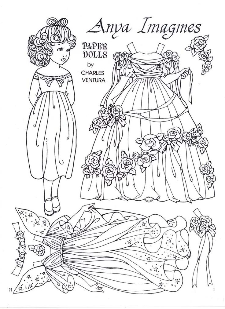 anya imagines a paper doll by charles ventura paper dollspapercraftcoloring pagescolouringadult