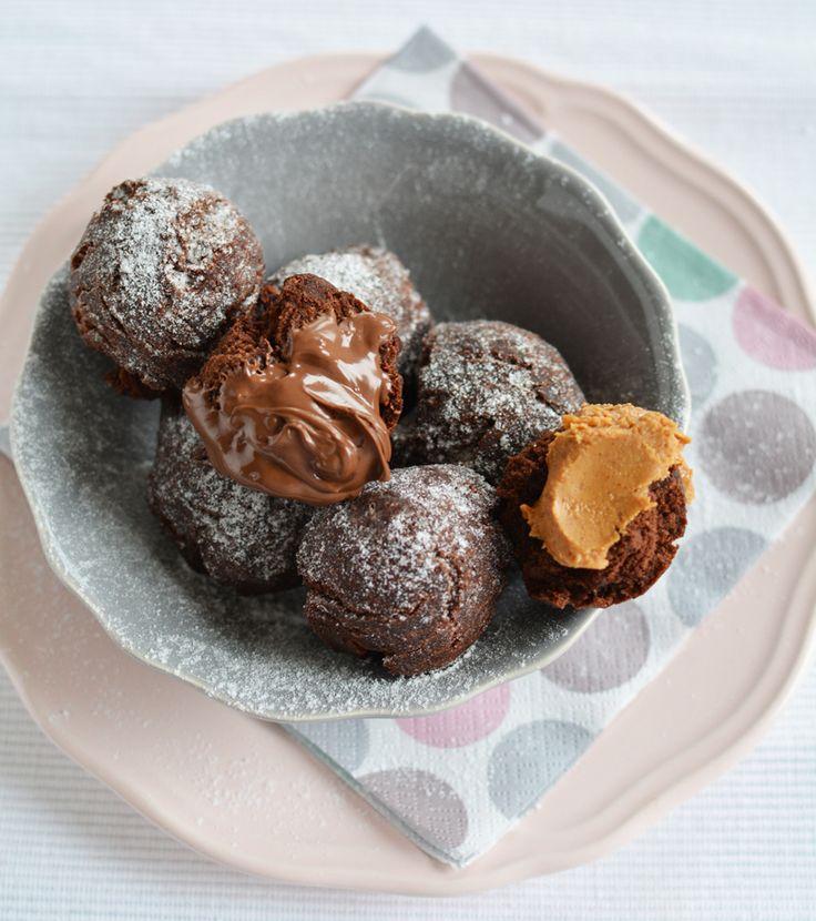 chocolate doughnut holes - by édesem