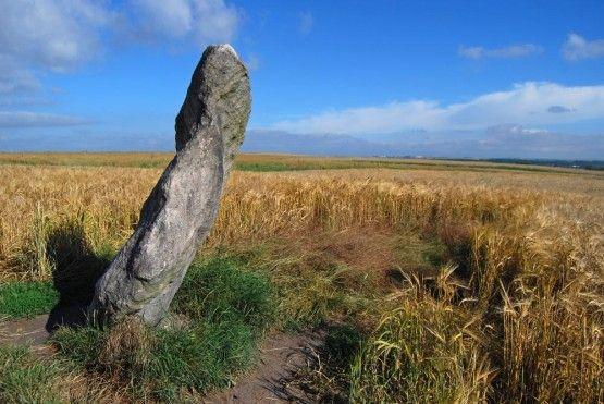 Říká se mu Zakletý mnich, ale také Zkamenělý mnich nebo Zkamenělý kapucín. Nachází se také v poli, ale tentokráte o něco západněji, u obce Drahomyšl.