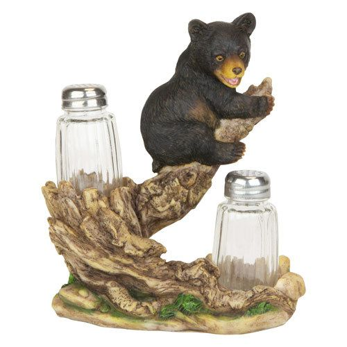 Black Bear Kitchen Decor  Black Bear Cabin Su0026P Shakers