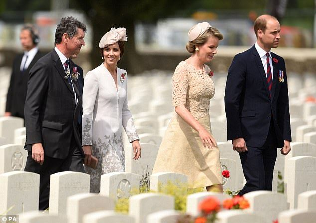 31-7-2017 The royals were joined by Belgium's Queen Mathilde andVice Admiral Sir Timothy Laurence...