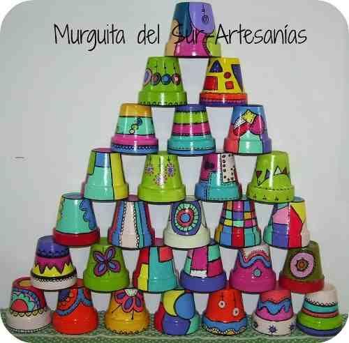 Macetas Pintadas - Diseños Únicos E Irrepetibles!!! - en MercadoLibre