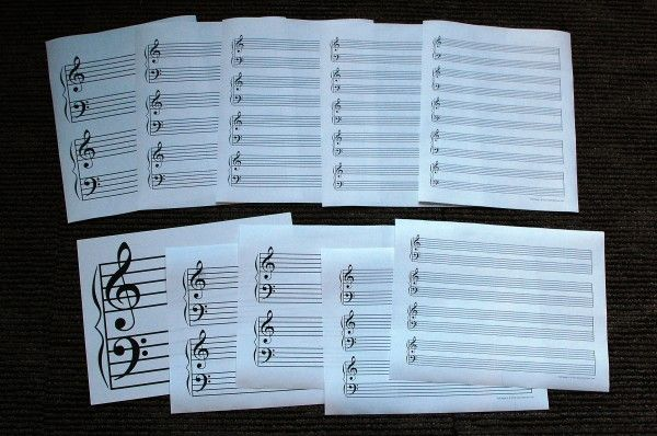 TEN different sizes of staff paper - perfect for beginners to advanced music students.  (Free!)