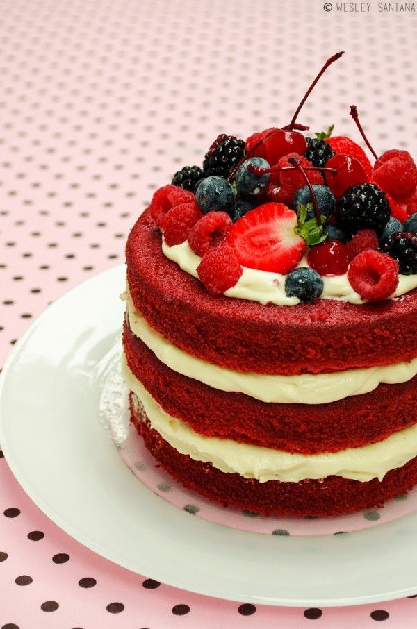 Naked cake red velvet – Receita deliciosa do dia