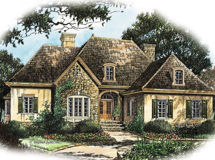 House plan visalia hill stephen fuller inc for French country cottage design