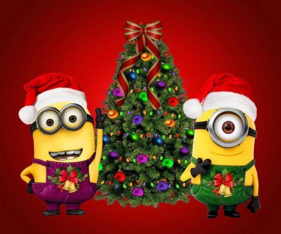 Новый год 2016: веселые миньоны воспевают Рождество. Видео