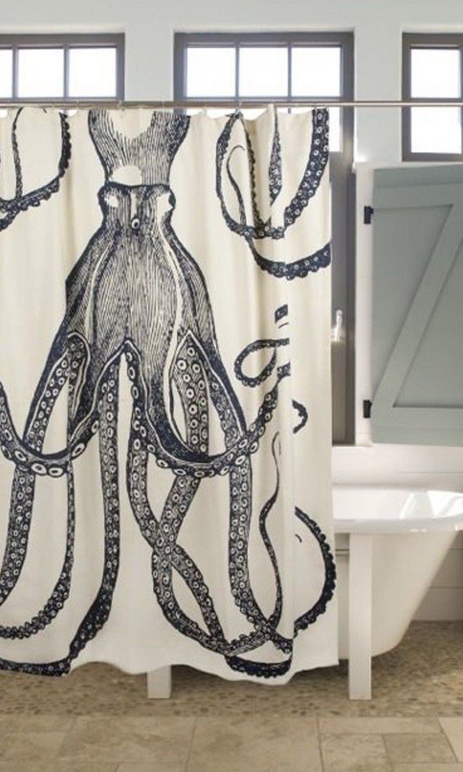 octopus shower curtain - vintage black a