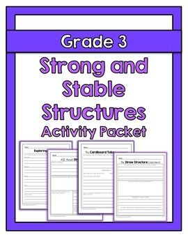 """The """"Strong and Stable Structures"""" activity packet is aligned with the Ontario Grade 3 Science curriculum expectations. This activity packet includes lessons, worksheets and experiment instructions that can be used to supplement your """"Strong and Stable Structures"""" unit."""