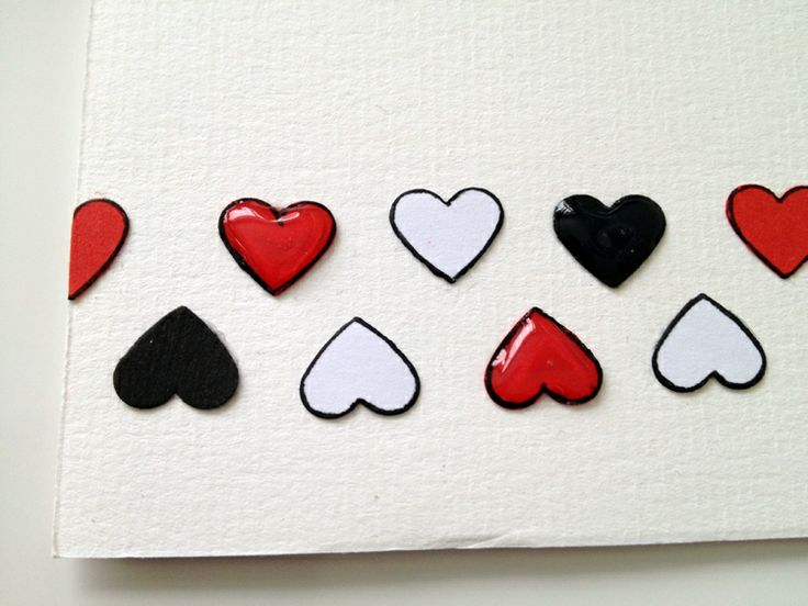 Heart Border - Glossed - Handmade Card
