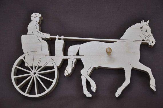 Conduite chariot poney ou cheval spectacle ruban par Puzzimals