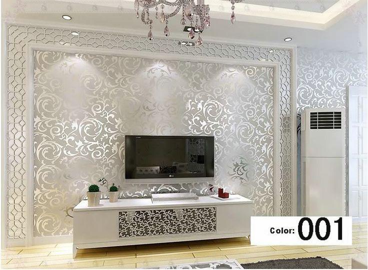 estilo italiano d en relieve papel tapiz de fondo para sala de estar plata y oro