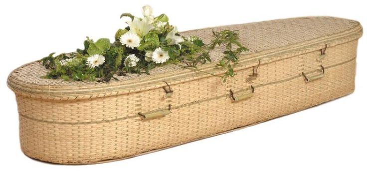 Bamboo Green Casket Price: $1,395.00 The bamboo caskets provide an alternative to the tapering willow and seagrass caskets. They are the same width from head to toe. Each casket features durable, convenient handles for carrying and a lined natural unbleached cotton interior with matching pillow. Each bamboo casket also includes a simple shroud with which to wrap or cover the body of the deceased.