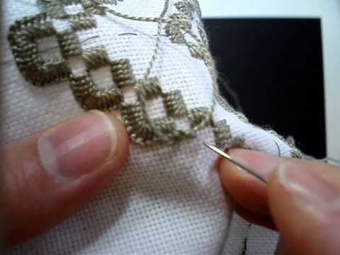 Hardanger Embroidery, Lesson 7, Starting and Ending Thread for Blanket Stitch - YouTube