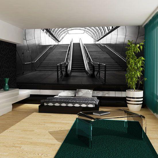 Fototapeta z oryginalnym motywem schodów w metrze. Idealna do sypialni.