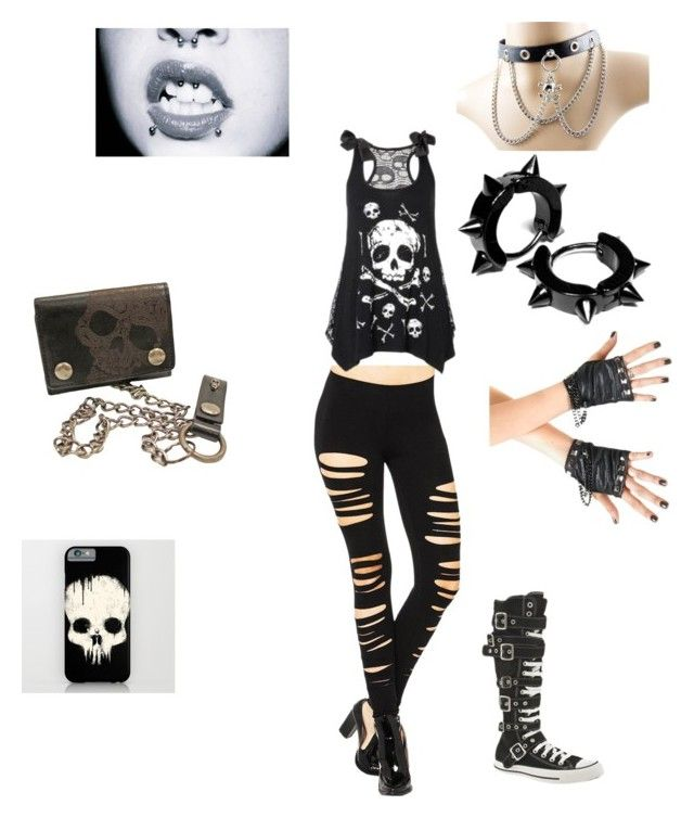 """valentines sucks emo outfit"" by kjordan4923 ❤ liked on Polyvore featuring Converse"