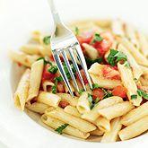 Pasta Primavera salad with creamy dill dressing  via JillianMichaels.com