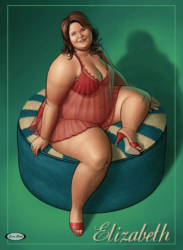 fat girl art | Big Girls in Art: Les Toil's Pin-up Art | Manolo for the Big Girl