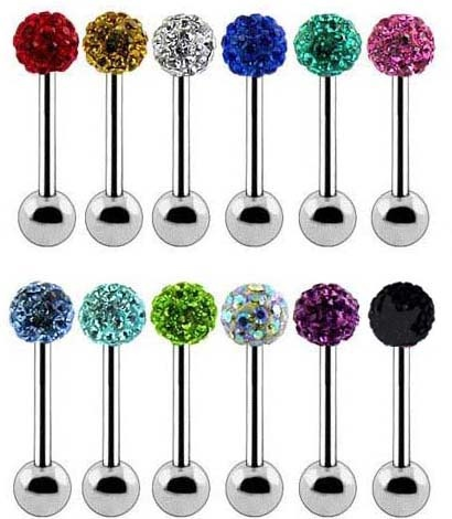 sparkly tongue rings - this would be the only  jewelry I would wear if I ever got my tongue pierced
