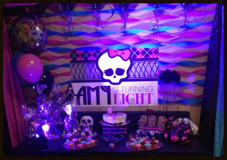 Monster High birthday party theme!!