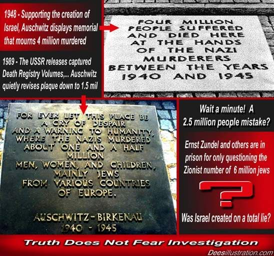 """The """"Holocaust"""" of 6 Million Jews  An Immensely Successful and Profitable Hoax!"""