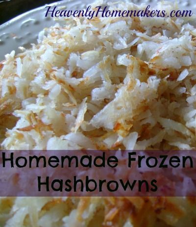 Homemade hashbrowns- easy and super cool way to make hashbrowns!! Bake, cool, peel, shred!