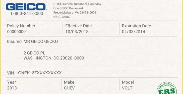 Insurance Card Template General Free Fake Auto Insurance Card