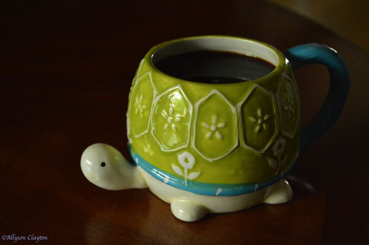 Turtle coffee mug omg I totally need this in my life