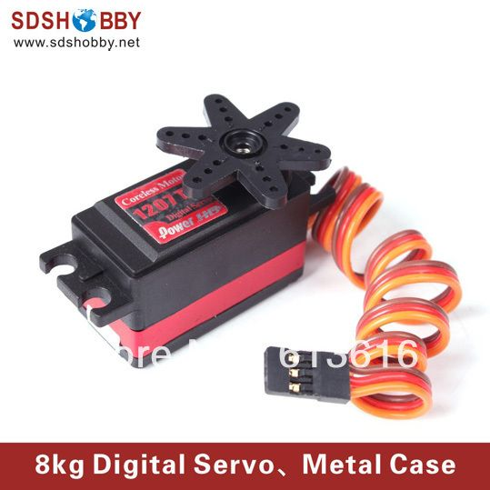 Мощность HD 8 кг / 48 г цифровой сервопривод HD-1207TG с металлической шестерни, 0.09 s высокой скорости в течение короткий автомобиль, гоночный автомобиль и Truggy