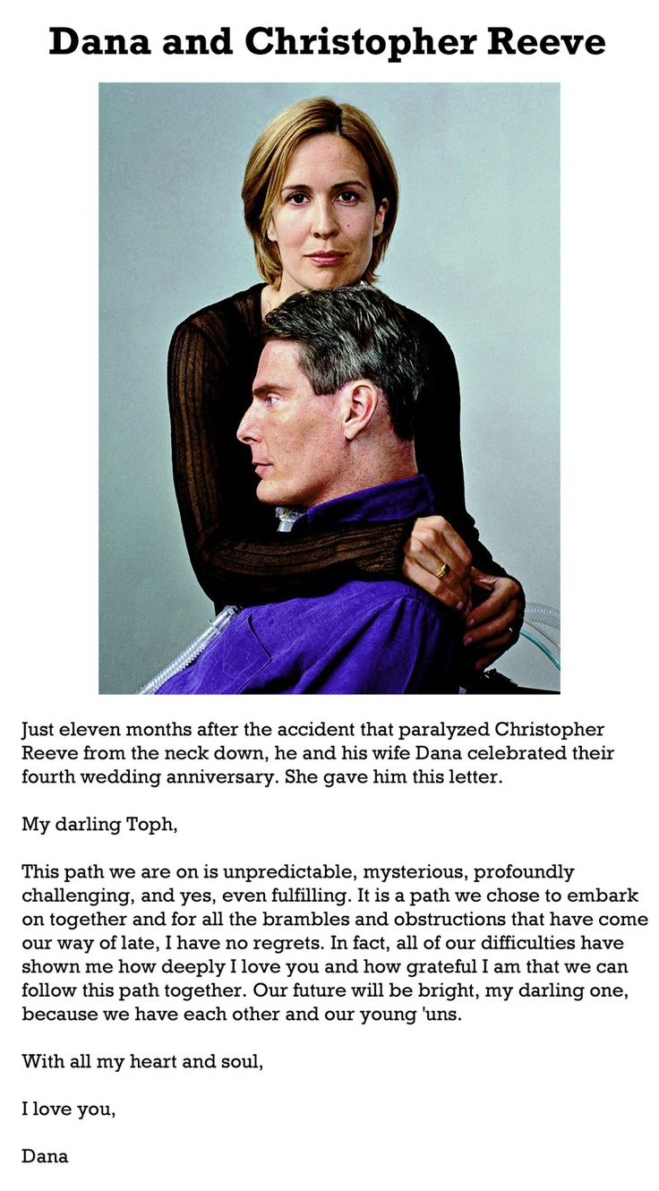 The 50 Most Romantic Photographs of All Time. Dana and Christopher Reeve. Photo by People Magazine.