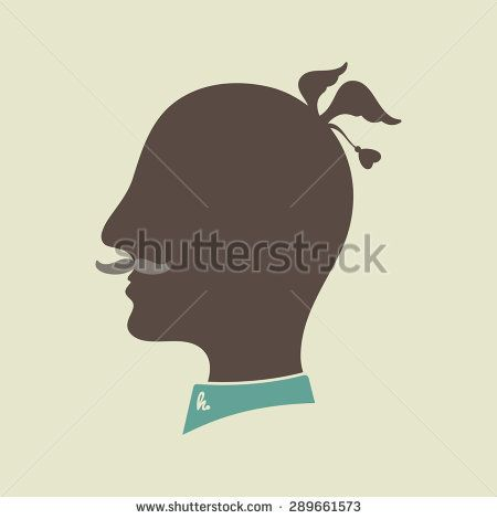 Hipster silhouette head on colored background. #hipster #flatdesign #vectorpattern #patterndesign