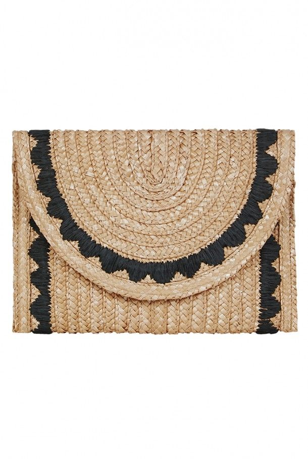Louche Kenya Straw Clutch Bag