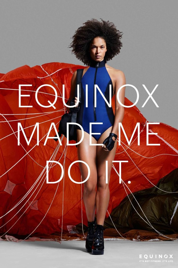 A mdoel with parachute for Equinox 2015 campaign