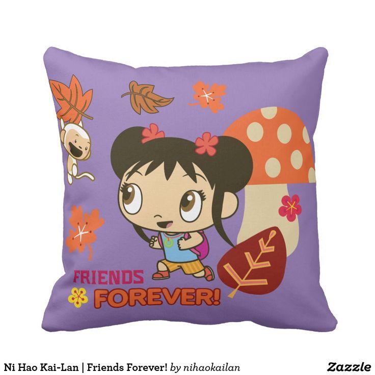 Ni Hao Kai-Lan | Friends Forever! Producto disponible en tienda Zazzle. Decoración para el hogar. Product available in Zazzle store. Home decoration. Regalos, Gifts. #cojín #pillows