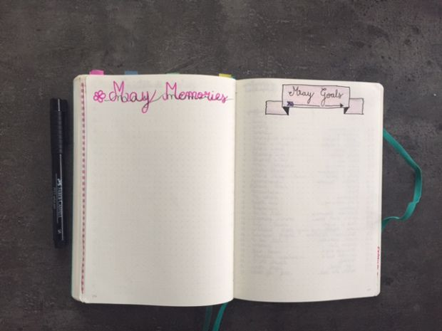 This is My Memories Page and my goals page for May