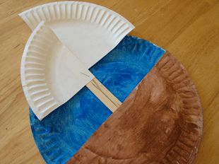 Preschool Crafts for Kids*: Thanksgiving Day Mayflower Paper Plate Boat Craft