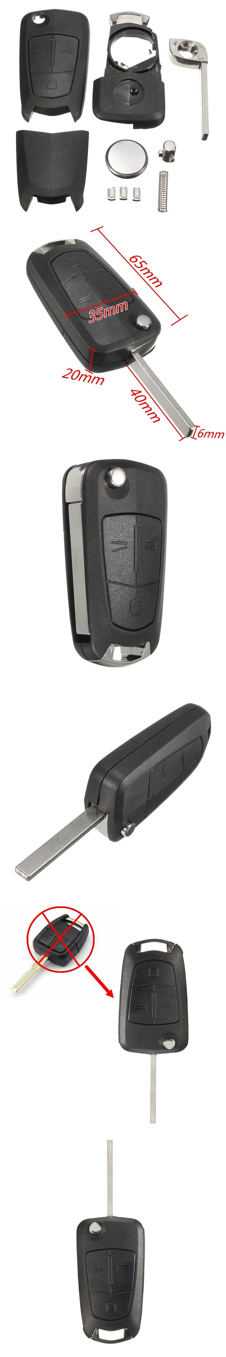 3 Buttons Switches Remote Flip Key Fob Case For Vauxhall /Opel /Corsa /Astra /Vectra